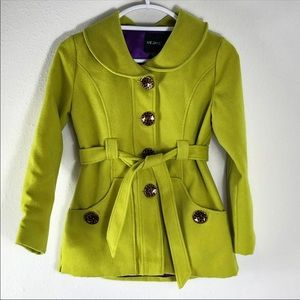 Girls Me Jane Belted Peacoat size 10/12